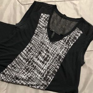 BCBG Maxazria black and white tank top. Size M.